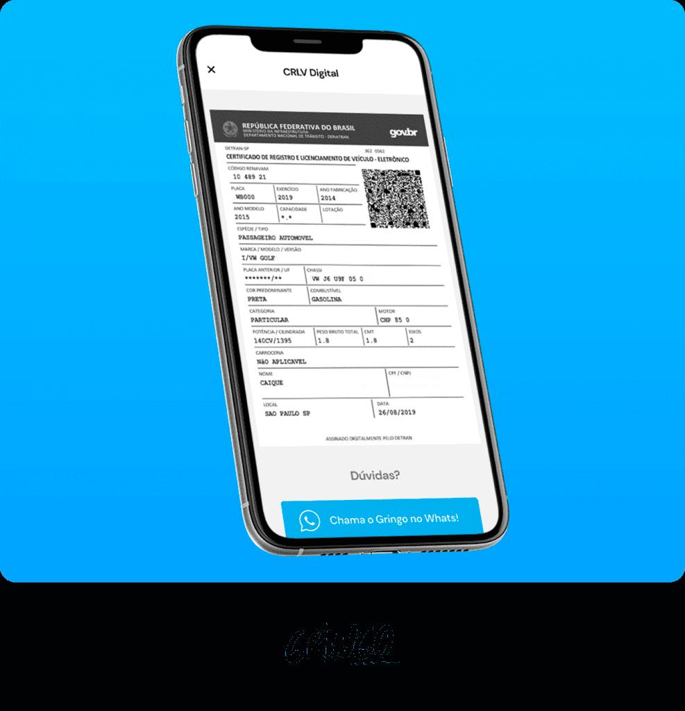 CRLV DIgital no app do Gringo - LICENCIAMENTO FINAL 8 [2021]